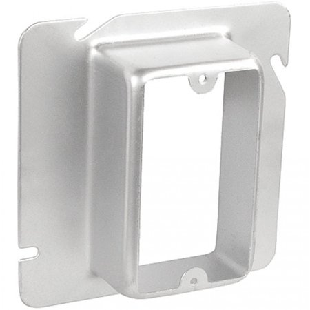 2 Pcs, 6 Square One Gang Device Cover, 1-1/2 In. Raised, Zinc Plated Steel Mount to Boxes & Provide Access to Install Switches, Devices, Receptacles & Electronic/Electrical Appliances