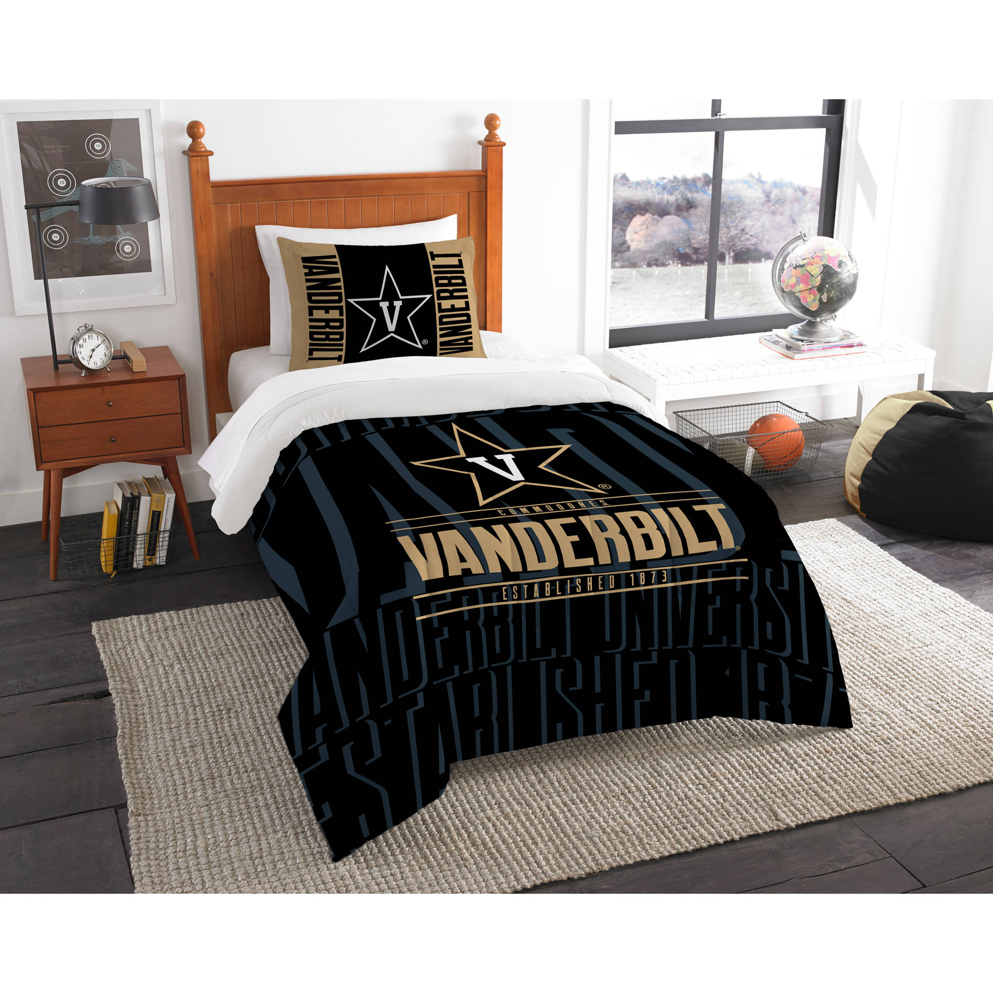 "NCAA Vanderbilt Commodores ""Modern Take"" Bedding Comforter Set"