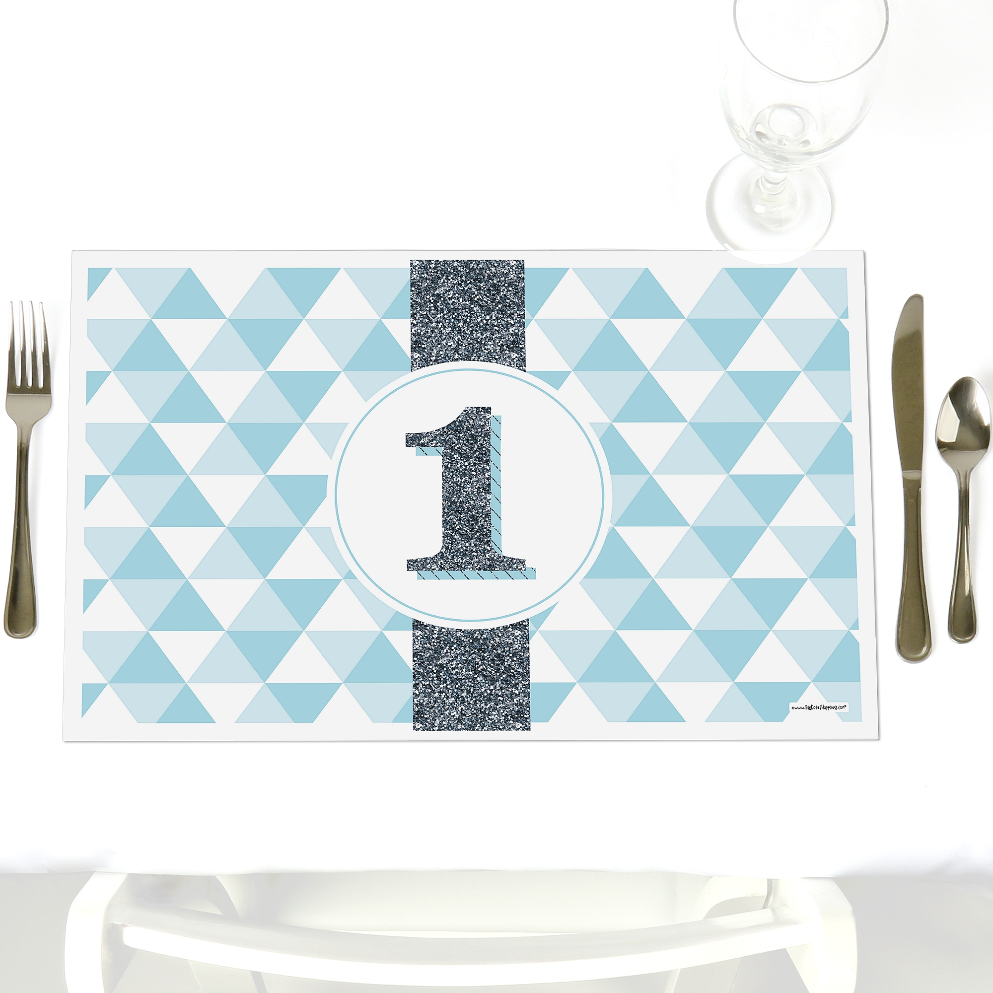 Fun to be One - 1st Birthday Boy - Party Table Decorations - Baby Shower Placemats - Set of 12