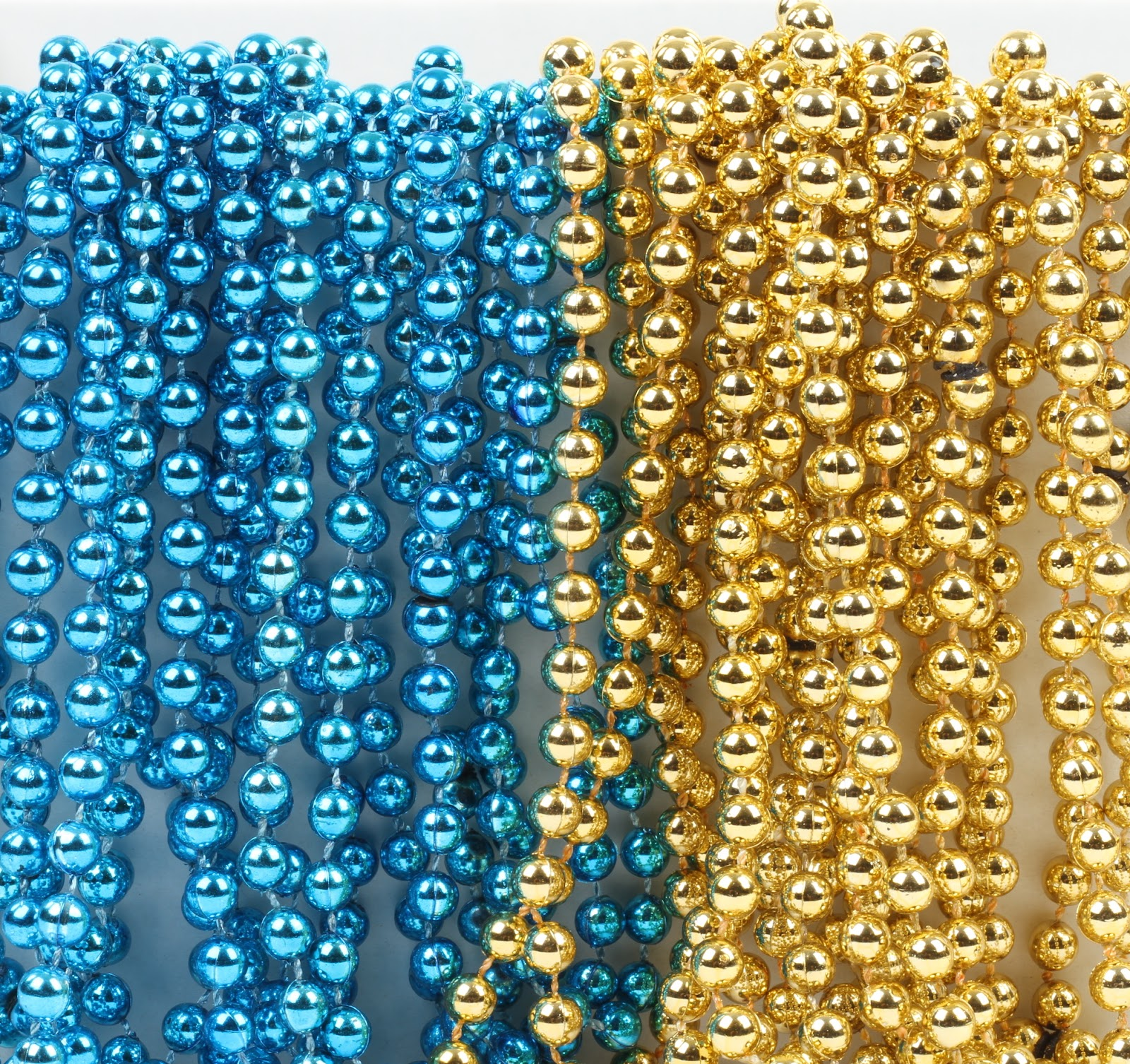 Andaz Press Mardi Gras Plastic Bead Necklaces for Birthday Favors and Table Centerpiece Decorations Pearl White 24-Pack