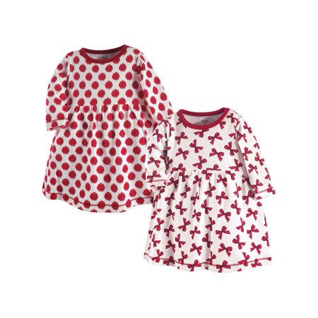 Holiday Organic Long-Sleeve Dress, 2pk (Toddler Girls) - Long Dress Girl
