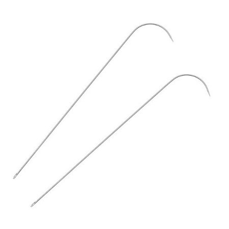 Beadsmith 2-Piece Curved Needles Set for Spin and String Bead Loader Stringing Tool (Hard Beading Needle)