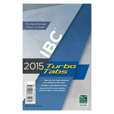 2015 International Building Code Turbo Tabs for Paperbound Edition (International Code Set)