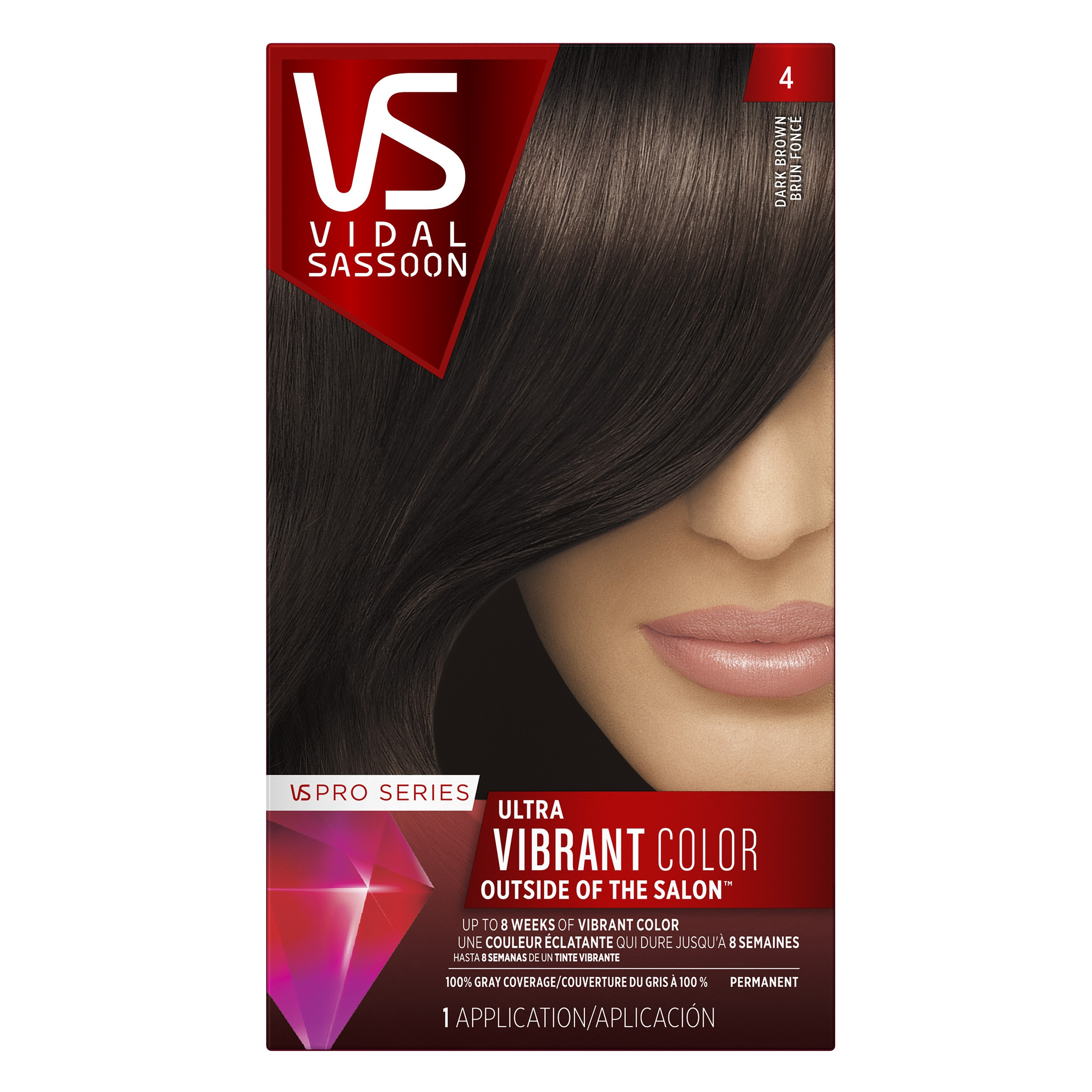 Vidal Sassoon Pro Series Hair Color 4 Dark Brown 1 Kit Walmart