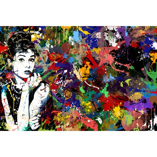 Maxwell Dickson ''Audrey Hepburn'' Painting Print on Canvas