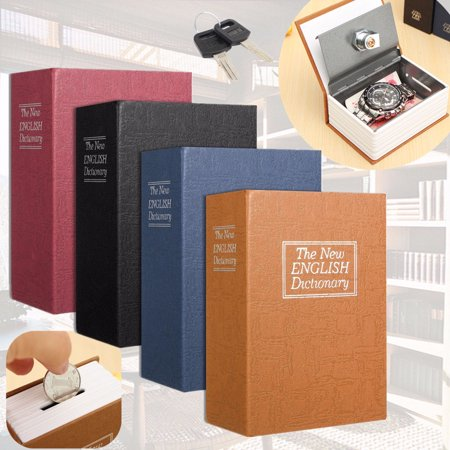 4 Colors Lock Box with Key Diversion Book Safe Portable Safe Box, Great for Traveling, Store Money, Jewelry, Passport 4.5''*3.15''*1.77'' ()