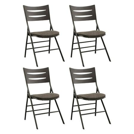 Strange Deep Brown Hardwood And Steel Destiny 3 Slat Back Folding Chair Machost Co Dining Chair Design Ideas Machostcouk