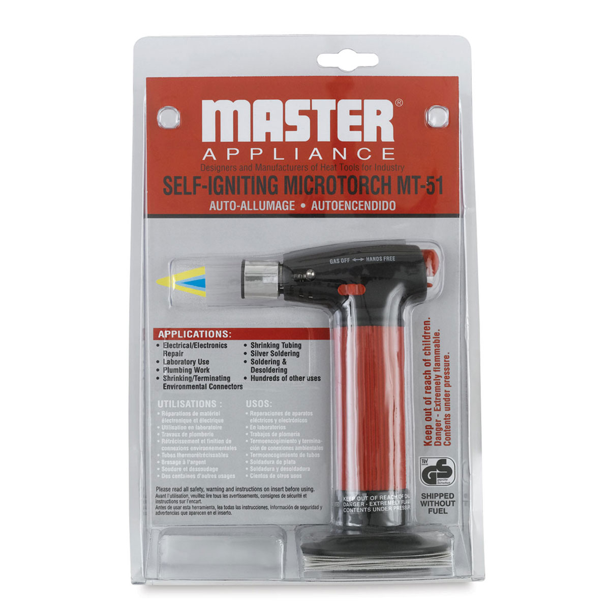 Microtorch,w Tank and Hands Free Lock MASTER APPLIANCE MT-51