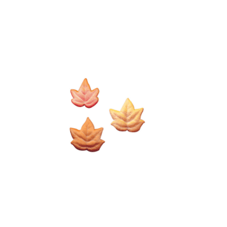 Set of 12 Fall Leaves 1inch - 1 1/4inch Edible Sugar Cake & Cupcake Decoration Toppers (Fall Cakes)