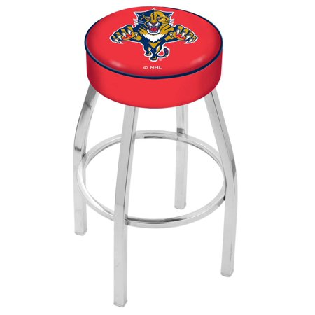 Holland Bar Stool L8C130FlaPan 30 inch 4 inch Florida Panthers Cushion Seat With Chrome Base Swivel Bar Stool by