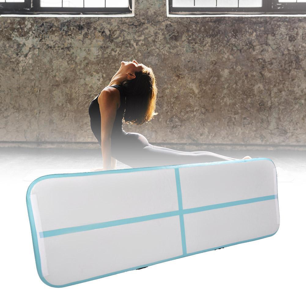 Dilwe Inflatable Air Pad Floor Home Gym Gymnastics Training Tumbling Mat Track, Air Tumbling Mat, Gymnastics Track