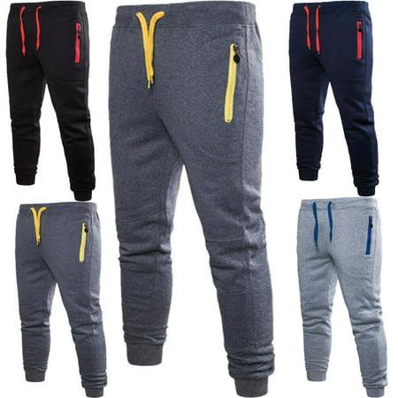 Men GYM Sport Sweat Pant Slim Fit Tracksuit Bottom Skinny Jogging Jogger Trouser (Jogging Sonnenbrille)