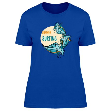 Summer Surfing Cool Doodle Tee Women's -Image by Shutterstock