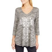 Tru Self Women's Lace Back Long Sleeve G