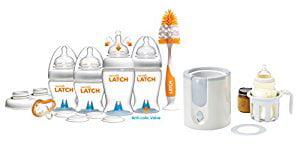 Munchkin Latch Newborn Bottle 12 Piece Gift Set with High Speed Bottle Warmer by Munchkin