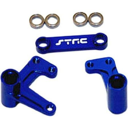 STRC Aluminum Steer Bellcrank System, Blue: Rustler Bandit Slash, STRT3743XB