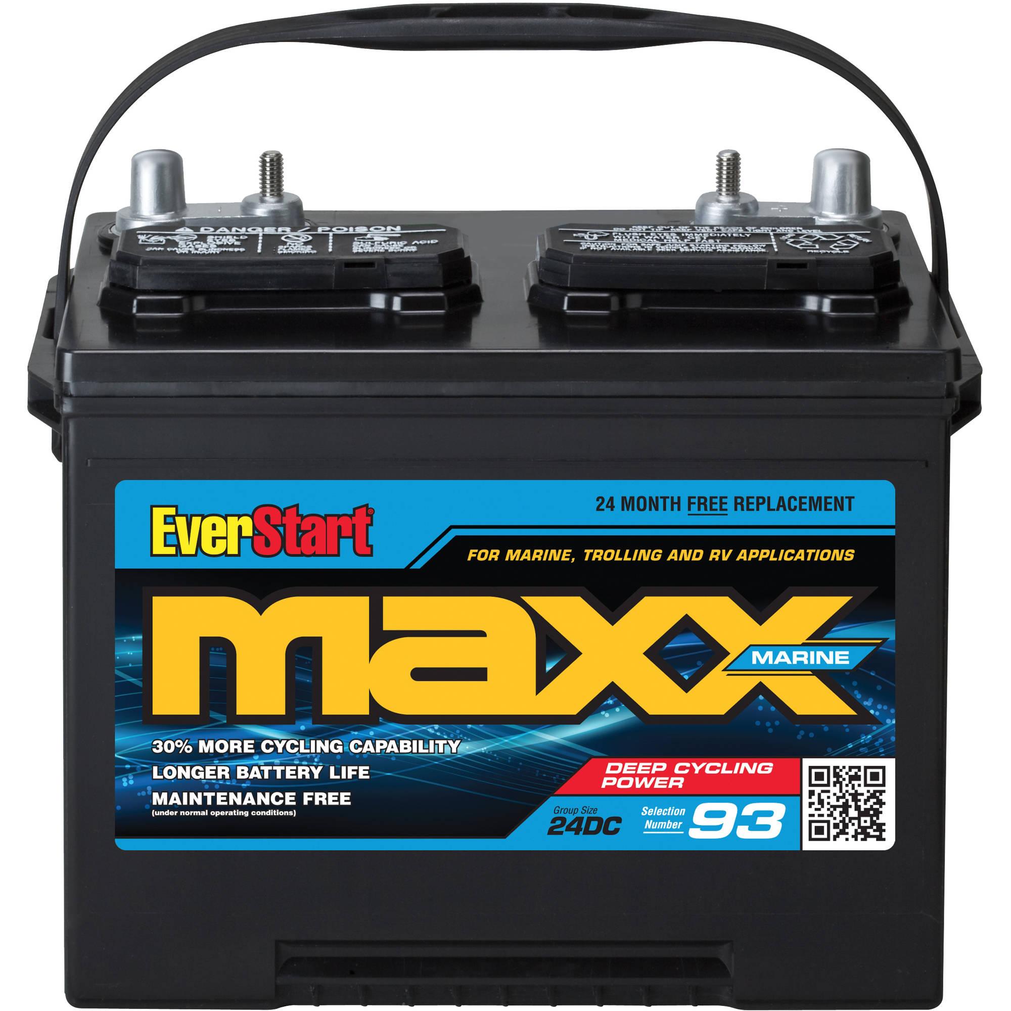 EverStart Maxx Lead Acid Marine Battery, Group 24DC ...