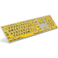 Logickeyboard USB Wired Large Print Apple Advance Black Jumbo Characters on Yellow Keyboard (LPRNTBY-AM89-US)