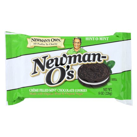 Newmans Own Organics Creme Filled Chocolate Cookies   Hint   O   Mint   Case Of 6   8 Oz