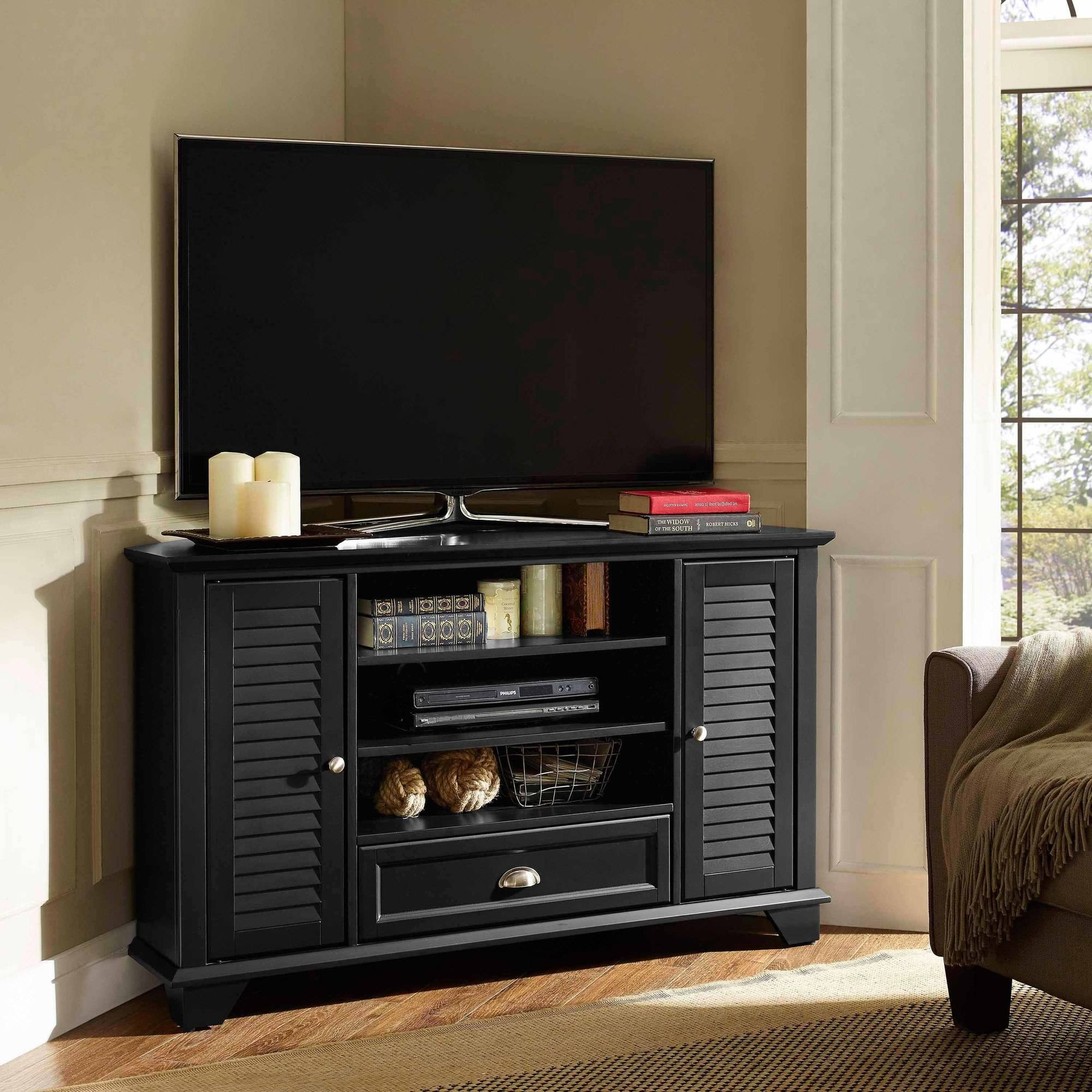 "Palmetto Corner TV Stand for TVs up to 50"", Multiple Colors"