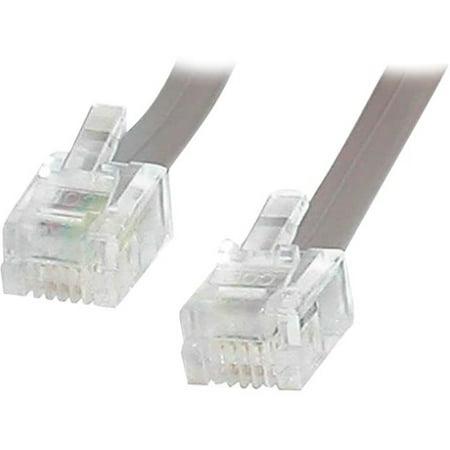 Rj11 Flat Cable (StarTech 25 ft RJ11 Telephone Modem Cable)
