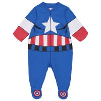 Marvel Avengers Captain America Baby Boys' Zip-Up Costume Coverall with Footies (6-9 Months)