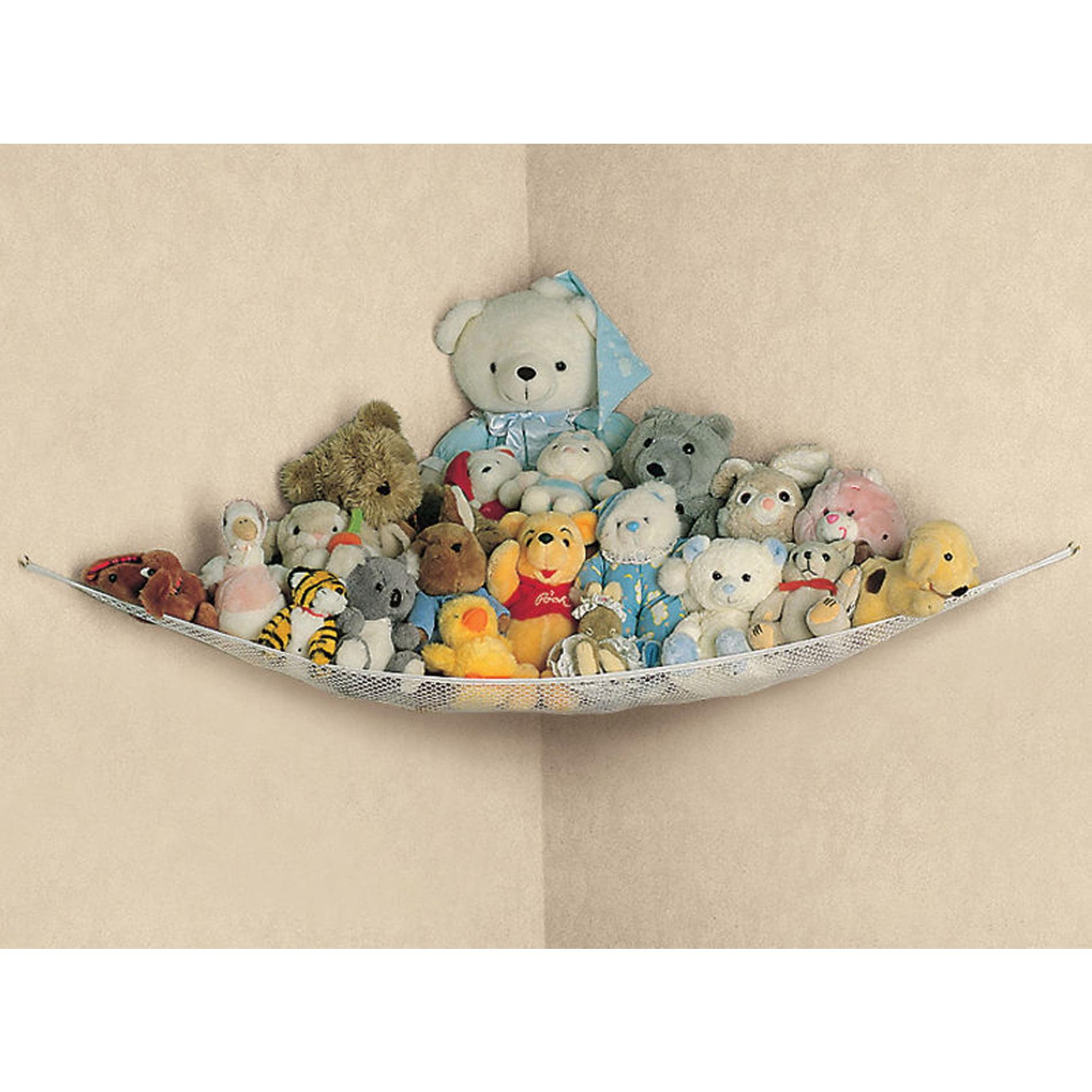 Large Kids Toy Storage Bag Organiser//Mesh Hammock Home Room Tidy For Teddy Bears