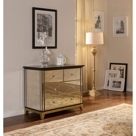 New Classic Furniture Greta Gold 4 Drawer Mirror Chest Walmart Com