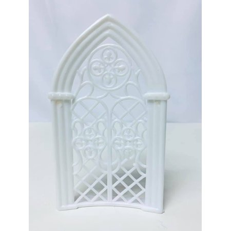White Church Arch Plastic Background 5.75