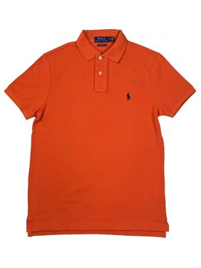 884fb738b Product Image Ralph Lauren Polo Mens Custom Slim Fit Polo Shirt Orange New  (L)