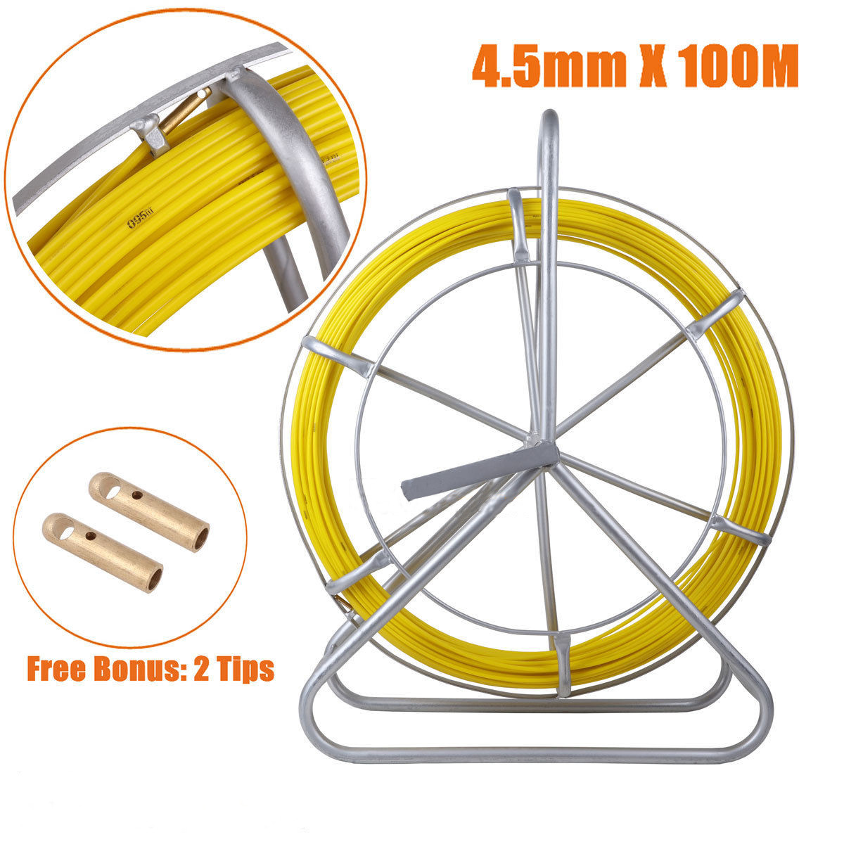 4.5mm Fish Tape Fiberglass Wire Cable Running Rod Duct Ro...