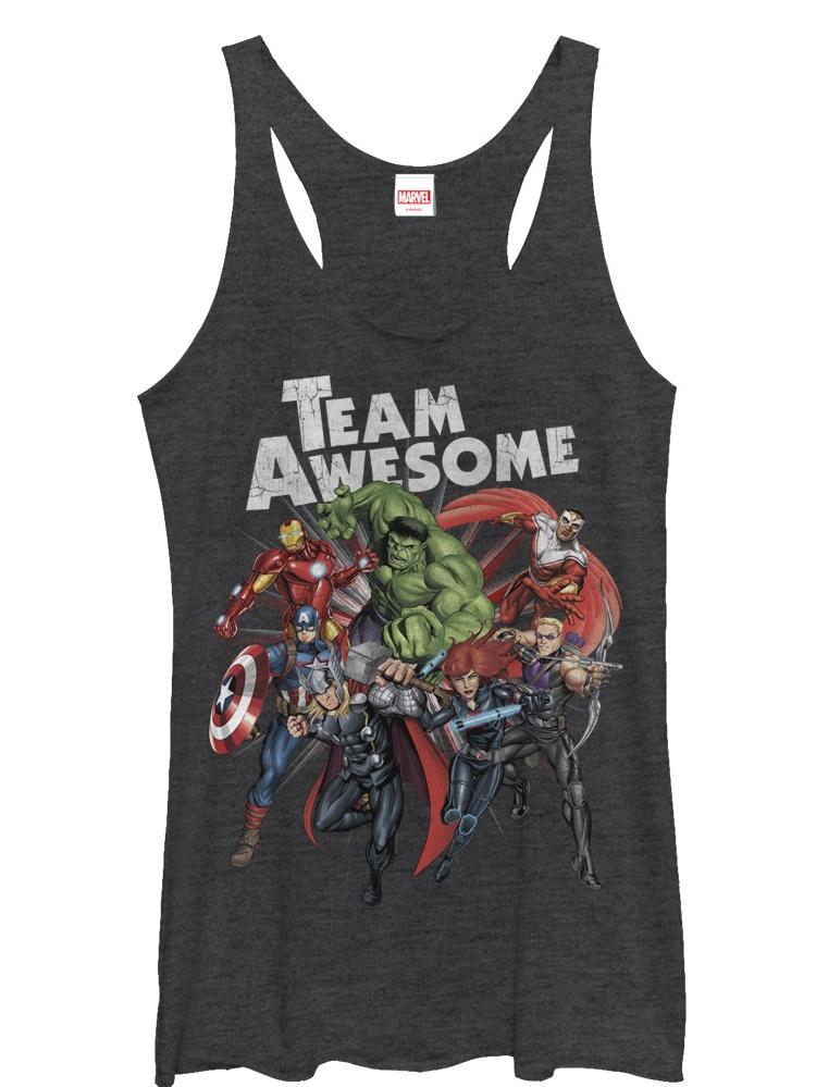Marvel Women's Avengers Team Awesome Racerback Tank Top