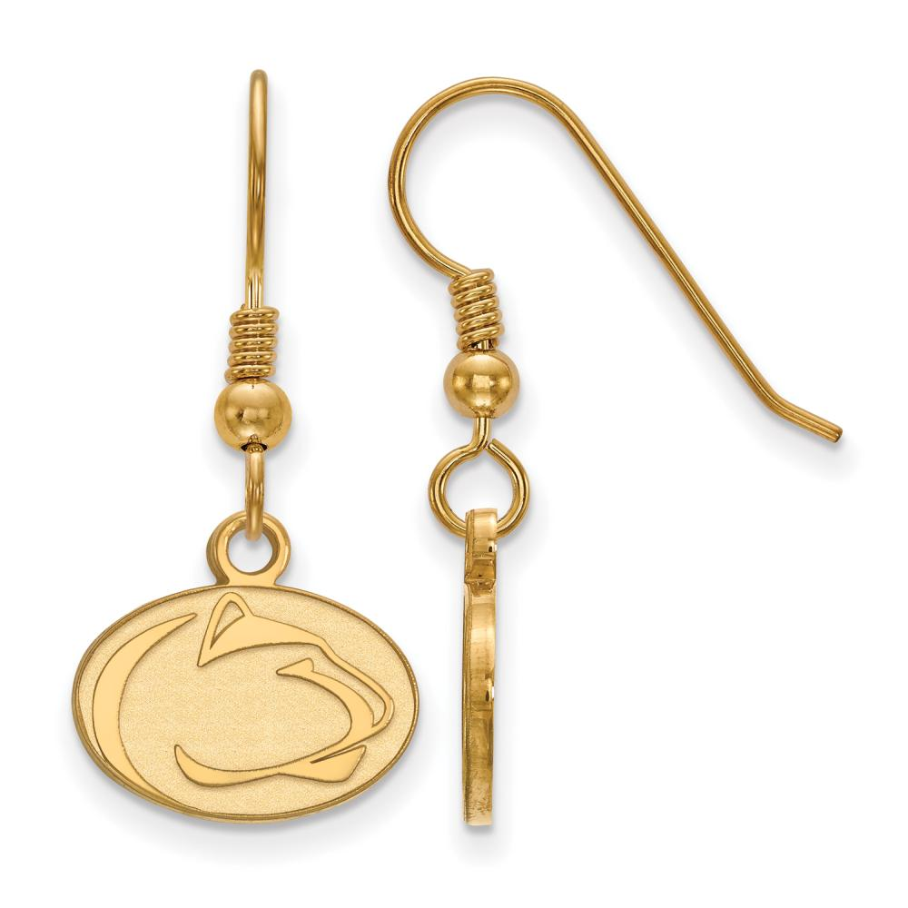 Penn State Extra Small (3/8 Inch) Dangle Earrings Wire (Gold Plated)