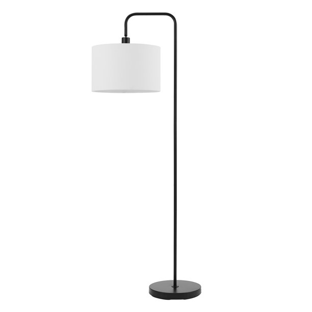 Globe Electric Barden 58 Matte Black Floor Lamp With White Linen Shade 67065 Walmart Com Walmart Com