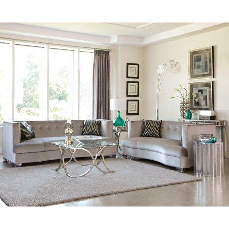 Astounding A Line Furniture Modern Design Traditional Influenced Silver Velvet Living Room Sofa Collection Walmart Com Machost Co Dining Chair Design Ideas Machostcouk