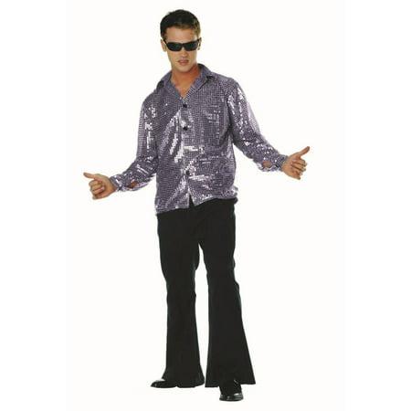 Disco Inferno-70'S Sequin Silv Retro Disco Clothes