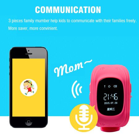 Anti-lost Smart Watch GPS Tracker SOS Call GSM SIM Gifts For Child Kids - image 7 of 11