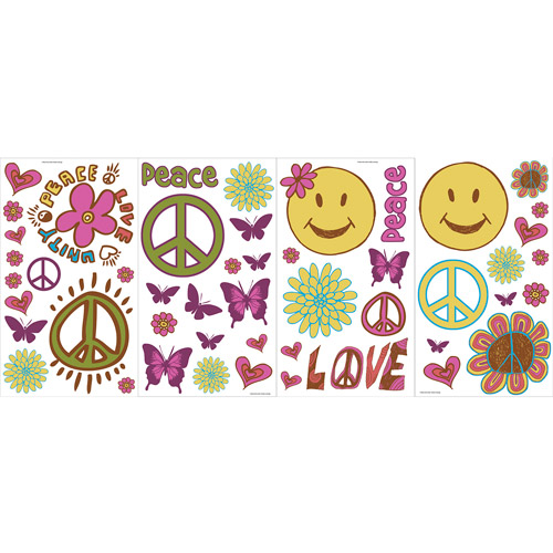 Blue Mountain Wallcoverings Peace and Love Room Appliques