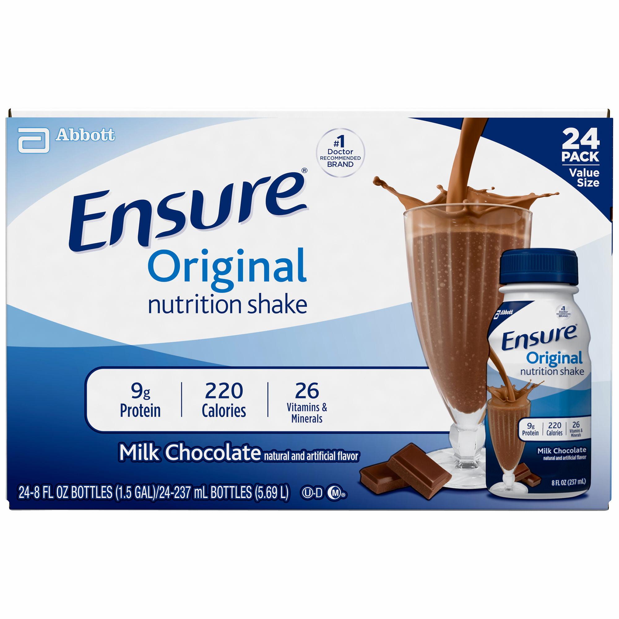 Ensure Technologies Regular Chocolate Shake, 24 pk./8 fl.oz.