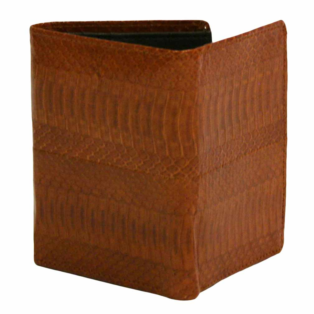 Luxury Divas Trifold Textured Snakeskin Men's Wallet