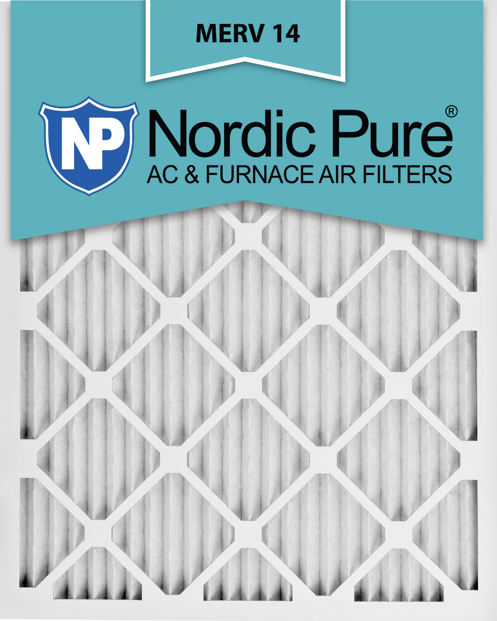 Nordic Pure10x20x1 MERV 10 Pleated AC Furnace Air Filters 2 Pack