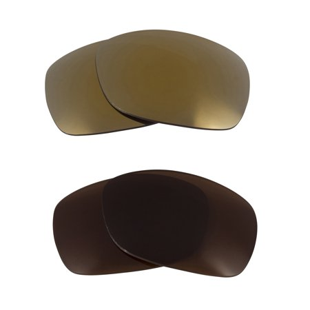 Sideways Replacement Lenses Bronze Brown & Gold by SEEK fits OAKLEY (Sideways Sunglasses)