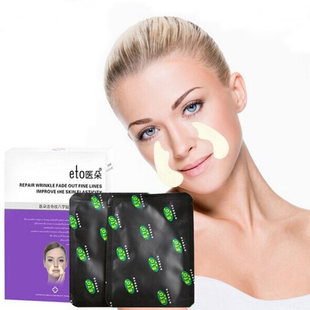 Facial Wrinkle Flattening Patches - Reduce and Prevent Fine Lines Around Mouth (Anti-Wrinkle Patches/Face