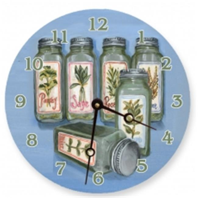 Lexington Studios 23101R Herbs Round Clock by Lexington Studios