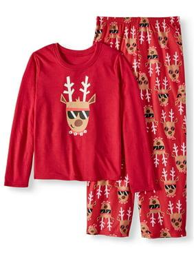 21c15eede Product Image Toast & Jammies Holiday Family Sleep Reindeer 2-Piece Pajama  Set (Little Boys and