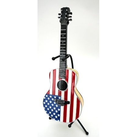 Kmp Gifts American Flag Electric Guitar Piggy Bank