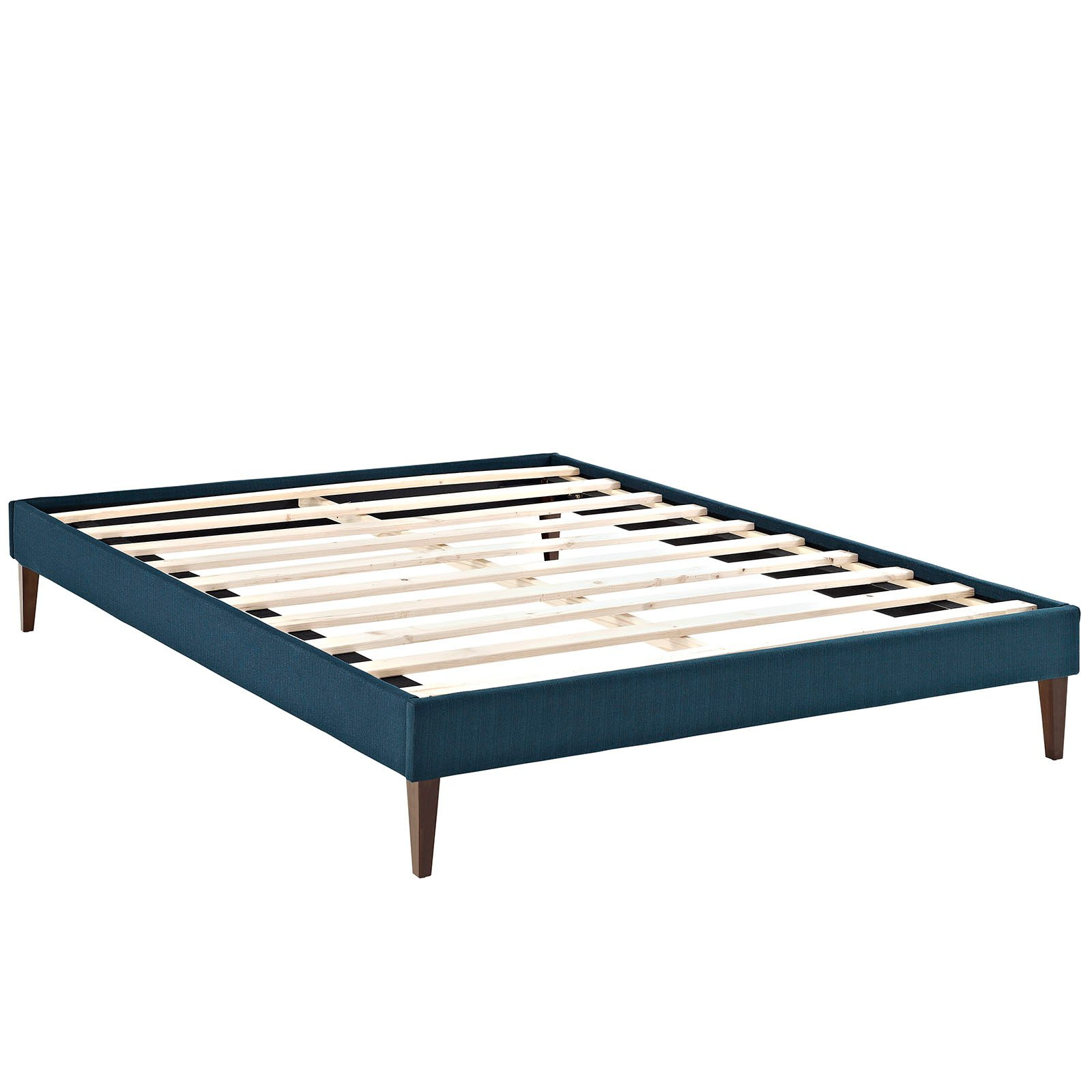 Modway Sharon Upholstered Bed Frame with Squared Tapered Legs, Multiple Sizes and Colors