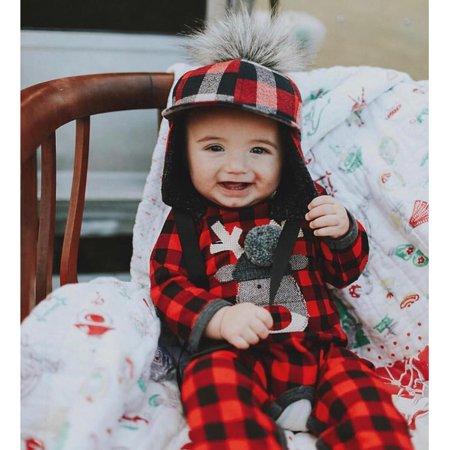 bf84978f547c Christmas Newborn Infant Baby Girl Boy Plaid Deer Romper Jumpsuit Clothes -  Walmart.com