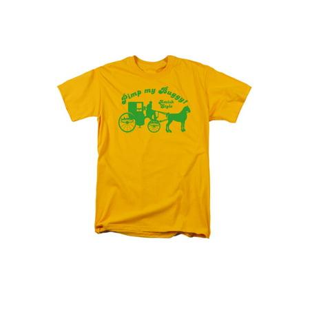 Pimp My Buggy Amish Style Funny Joke  Adult T-Shirt - Funny Pimp