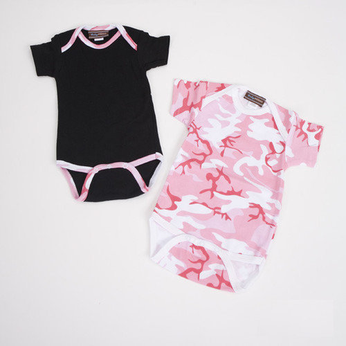 Baby Milano Infant Bodysuit Gift Set in Pink Camouflage